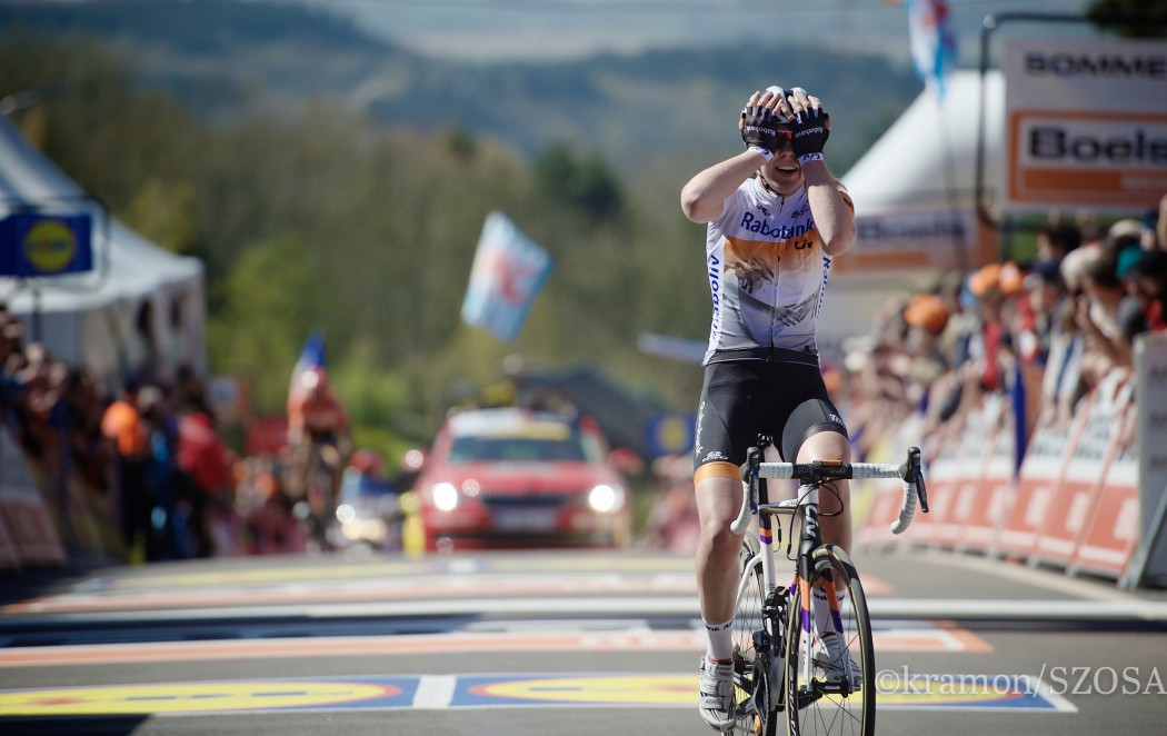 Anna van der Breggen (NLD/Rabobank-Liv) wins the FlËche for & 2nd consecutive time