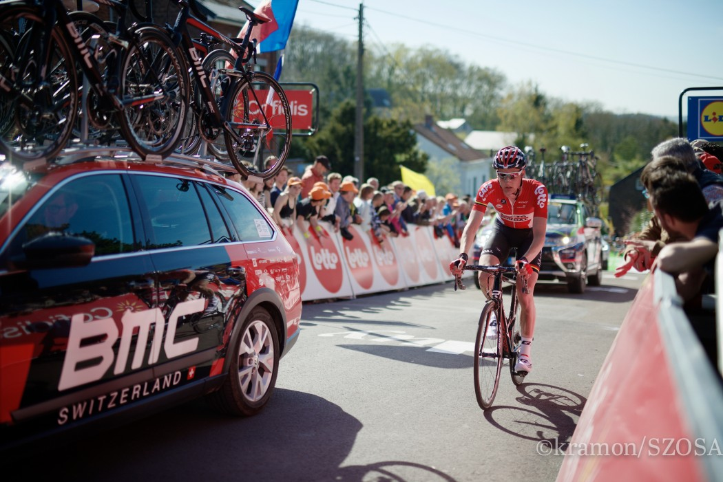 Tim Wellens (BEL/Lotto-Soudal) rolling in up the Mur de Huy