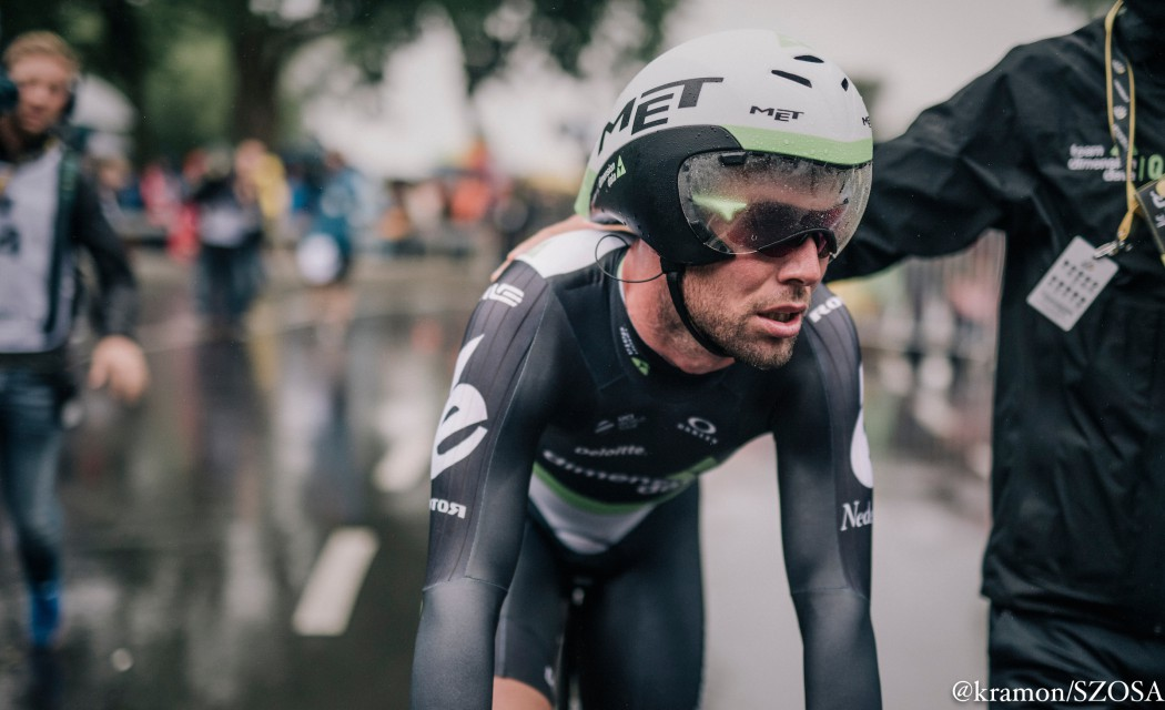 Mark Cavendish  (Dimension Data) na mecie czasówki